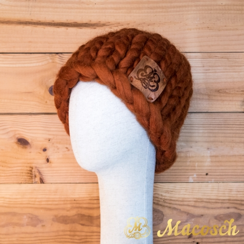 Beanie unisex hat, 100% merino wool bulky knit