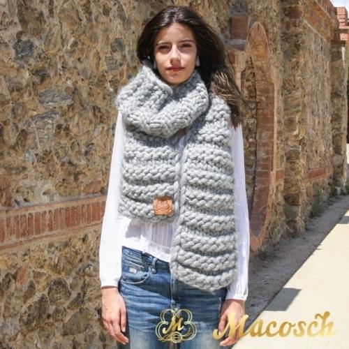 Conjunto gorro oversize + bufanda lana gruesa