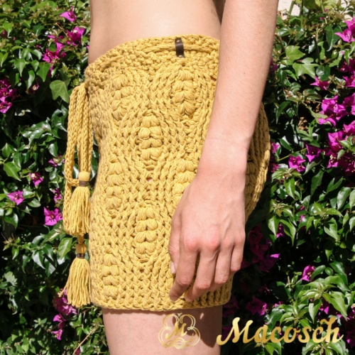 Falda de ganchillo algodón