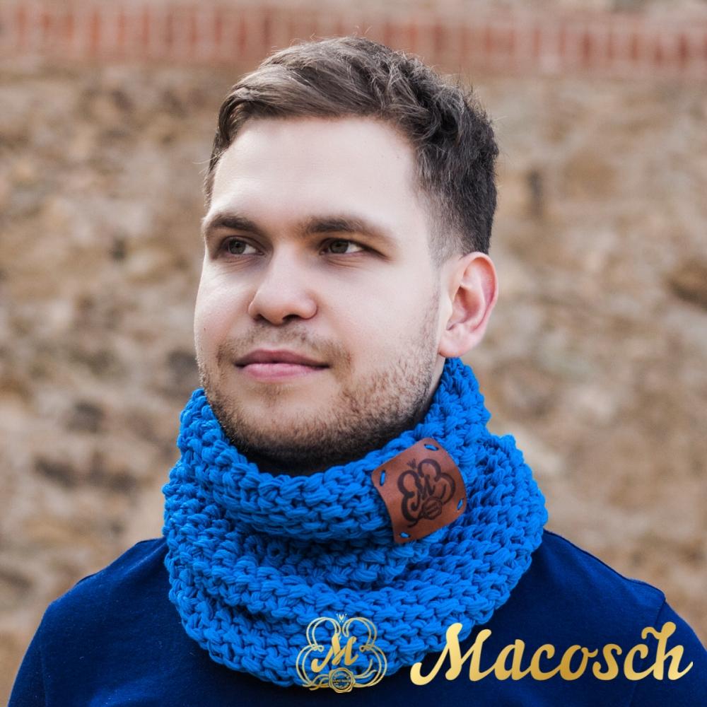 Buff cuello unisex de color azul electrónico, algodón