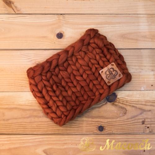 100% merino wool bulky knit buff