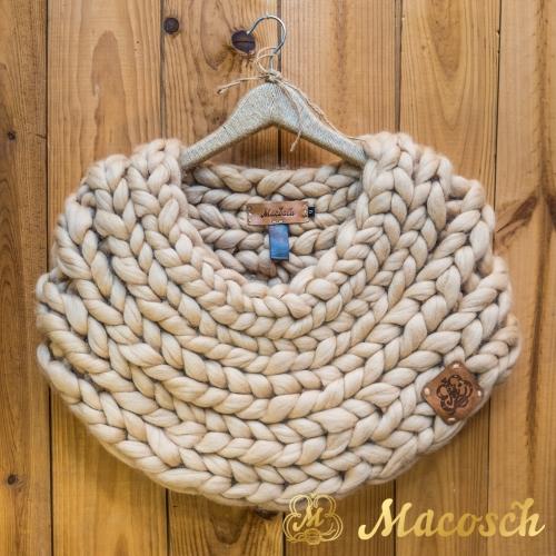 Merino wool big loop manto