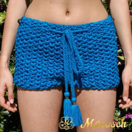 Conjunto chaqueta azul eléctrico + shorts algodón