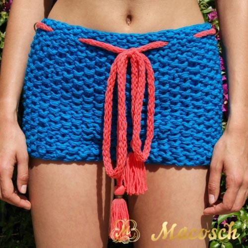 Kit blue electric cardigan + shorts - cotton